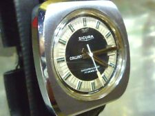 Sicura Collins 41mm 17j Mechanical Manual Wind Swiss Vintage Watch