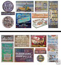 HO Scale Ghost Sign 2-Pack #6 - Great for Weathering Buildings & Structures!