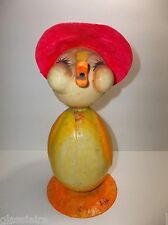 Vintage Mexican Folk Art DE SELA Paper Mache DUCK Piggy Bank LARGE 11""