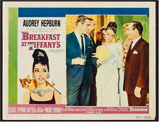 Breakfast at Tiffany's Vintage Lobby card MOvie Poster Audrey Hepburn 1961