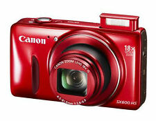 Canon PowerShot SX600 HS 16MP Digital Camera HD video Wi-Fi Enabled Red