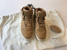 Celine Leather High Top Sneakers - Size 38