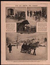 WWI Poilus Bois de Montlignon Artilleurs/ Sabots Villiers-Adam 1915 ILLUSTRATION