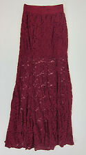 Nasty Gal Not a Love Story Lace Maxi Skirt - Womens Small - Burgundy - NWT