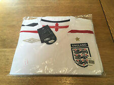Rare Official Umbro England 2007/09 White Home SS Shirt Large Mens BNWT Retro