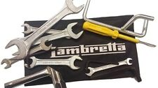 LAMBRETTA HANDY TOOLKIT & BLACK POUCH 13 PC PROP, PLUG SPANNER, SCREW DRIVER NEW