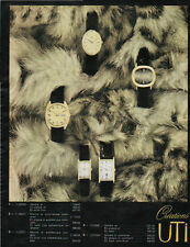 Publicité Advertising  1960 montre  Créations UTI