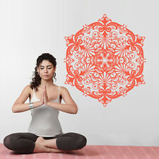 Wall Decal Vinyl Sticker Mandala Menhdi Flower Damask Dorm (Z3037)