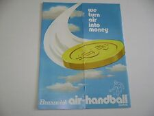 Brunswick Air Handball Game Original sales flyer brochure