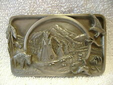 Native American Tribute No. L-27 Siskiyou Buckle Co. Pewter Belt Buckle