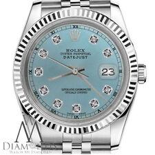 Ice Blue Rolex 31 mm Datejust Diamond Dial Jubilee Steel & 18K White Gold Watch