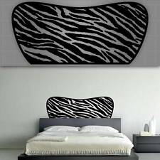 "Zebra Headboard Wall Decal, Bedroom Wall Decor - 48"" x 22"""