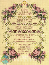 Cross Stitch Kit ~ Janlynn United As One Marriage Wedding Record #080-0461