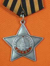 Soviet Russian Russia USSR WW2 Silver Order of Glory 3 Class #762124 Medal Badge