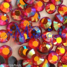 288pcs Rojo Siam AB 5mm Ss20 Piso Nuevo Premium A + Vidrio Hotfix Pedrería