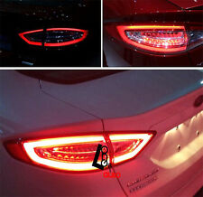 1Set 3D LED Tail Lights For Mondeo Fusion Clear Red Rear lamps Len 2013-2016-NEW