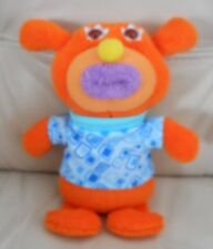 Fisher Price Sing a ma jig/Singamajig Orange Plush Singing Bear Toy 8.5""
