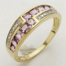 Jewellry Size 6-9 Luxury Amethyst 10KT Gold Filled For Womens Anniversary Rings