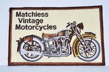 Nouveau brodé tissu badge-matchless vintage motorcycles-colectors objet