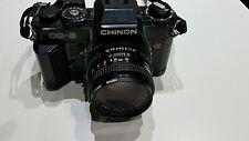 Chinon CG-5 Cámara 50mm 1:1 .9 Lente Ajustable Negro Retro Clásico de fotografía
