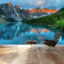 Tranquil mountain lake - Landscape - Wall Mural, Home Decor - 66x96 inches