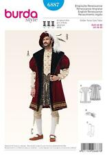 BURDA SEWING PATTERN ENLISH RENAISSANCE Shakespeare COAT & HAT SIZE 36 - 50 6887