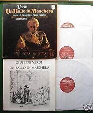 Verdi Un Ballo in Machere Caballe Carreras Philips 6769 020 Box Set LP x 3