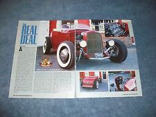 "1931 Ford Model A Roadster Hot Rod Article ""The Real Deal"""