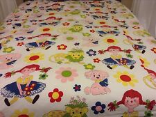 Vintage Sears Perma Prest Girls Bedspread Coverlet Pillow-sham Fabric Project