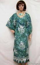 PLUS SIZE TIE DYE FUNKY FISH KAFTAN MAXI DRESS GREEN 16 18 20 22 24 26 28 30 32