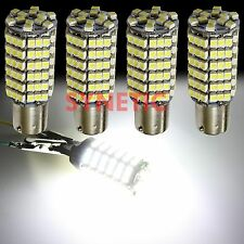 4X 6000K Super White 1156 BA15S RV Trailer Interior 12V LED Lights Bulbs 120 SMD