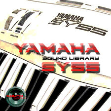 YAMAHA SY55 HUGE Original Factory & New Created Sound Library/Editors on CD