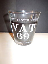 Vintage Vat 69 Finest Scotch Whisky glass tumbler