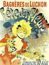 CULTURAL FLOWER FESTIVAL BAGNERES DE LUCHON FRANCE HAUTE-GARONNE POSTER 1730PYLV