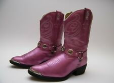 LITTLE GIRLS DINGO KIDS YOUTH PINK PEARL HARNESS COWBOY WESTERN BOOTS SZ 1 D