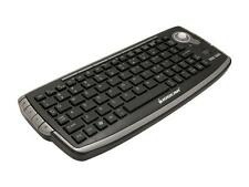 IOGEAR GKM681R Black USB RF Wireless Mini Keyboard with Optical Trackball and Sc