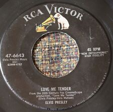 ORIGINAL Elvis Presley 45 RCA Love Me Tender b/w Anyway You Want Me