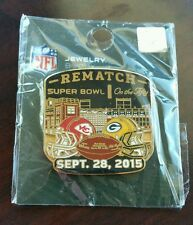 Green Bay Packers VS Kansas City Chiefs  9/28/15 NEW GAME DAY LAPEL PIN REMATCH