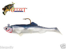 "Gitzit Shad Swimbait Bully in 5"" color: Anchovy Pike Perch Zander Made the USA"