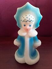 1970s USSR/Soviet Russia Snow Maiden Vintage Rubber Doll Toy.