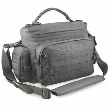 Mens Small Tactical Shooting Police Kit EDC Messenger Shoulder Paracord Bag Grey
