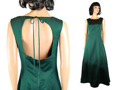 Night Scene Prom Gown Jrs 11/12 L Long Sleeveless Open Back Dark Green Dress