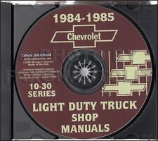 1984 1985 Chevy Truck Shop Manual CD Pickup Scottsdale Silverado Service Repair