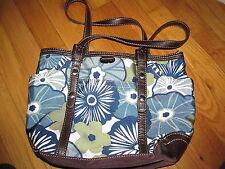 Women's Franco Sarto Blue/Floral Print Shoulder Handbag Very good Condition