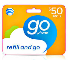 AT&T GoPhone $50 Refill. Real Time Reload Directly to Phone. No PIN Needed