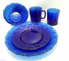 Royal Sapphire by Avon Cobalt Blue Glass France 5 Pc Place Setting(s)