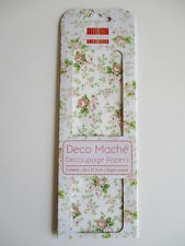 First Edition Deco Mache Decoupage Papers - Peach Roses -  floral decopatch