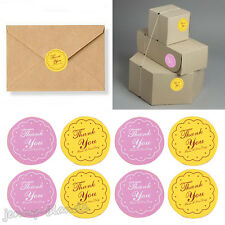 "120xBicolour Round Seal Label Letter ""Thank you"" Adhesive Sticker Cookie Bag DIY"