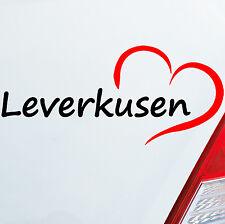 Pegatinas De Coches Leverkussen 18x8cm Corazón Ciudad Amor 715