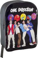 One Direction School Backpack Rucksack Black Bag Adjustable Shoulder Straps New